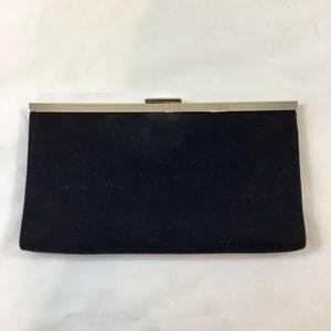 Banana Republic Black Snap Small Clutch Bag